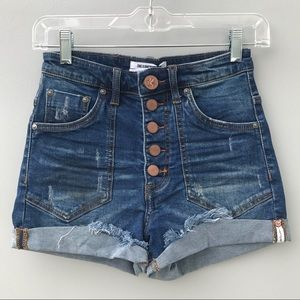 One Teaspoon Bonnie Blue Harlets Shorts